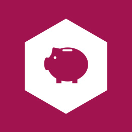 Finance Piggy Bank Hexagon Icon