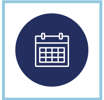 Calendar outline on blue background