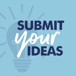 'Submit Your Ideas' button
